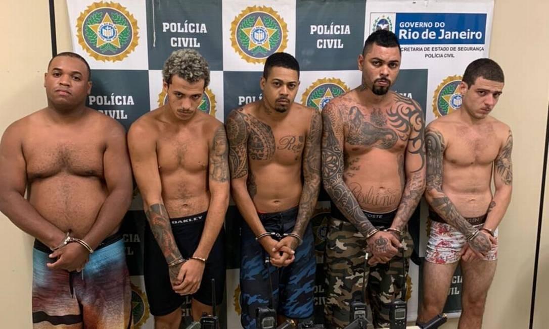 David Edson Fernandes Lins, o Duas Bocas, foi preso com outros quatro criminosos Foto: Divulgação/PCERJ