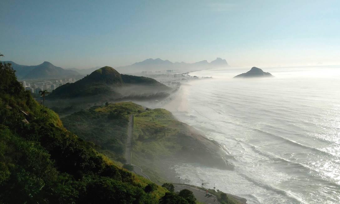 O Mirante do Caeté fica localizado no Parque Natural da Prainha, na zona oeste, e o acesso se dá por trilha Foto: Divulgação / Insight Comunicação