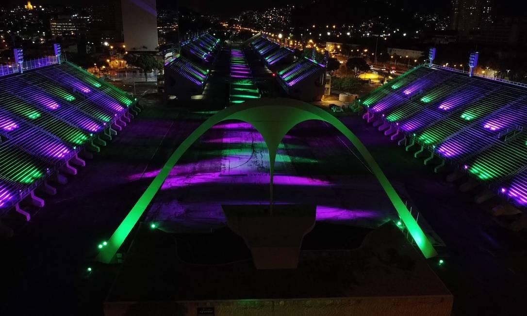 Sambódromo terá iluminação especial Foto: Alexandre Brum / Enquadrar