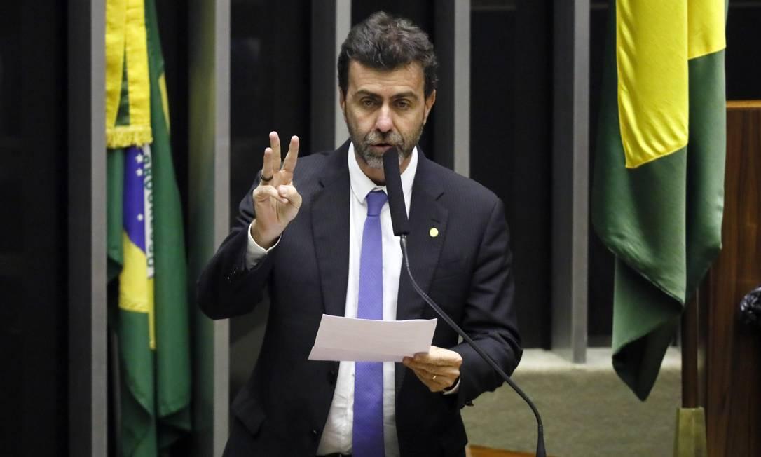 O deputado federal Marcelo Freixo (PSOL-RJ) discursa no plenário da Câmara Foto: Luis Macedo/Câmara dos Deputados/11-02-2020
