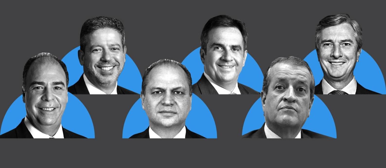 Investigados e aliados de Jair Bolsonaro Foto: Arte / O Globo