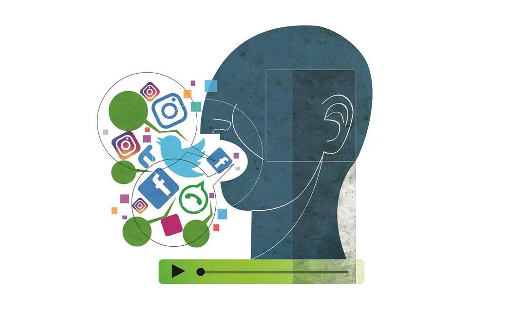 Twitter, Clubhouse, Facebook, Instagram, TikTok: excesso de redes e todo mundo ligado no áudio Foto: Arte André Mello