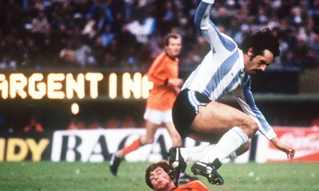 Leopoldo Luque. Campeão mundial de 1978 com a Argentina morreu aos 71 anos Foto: AFP