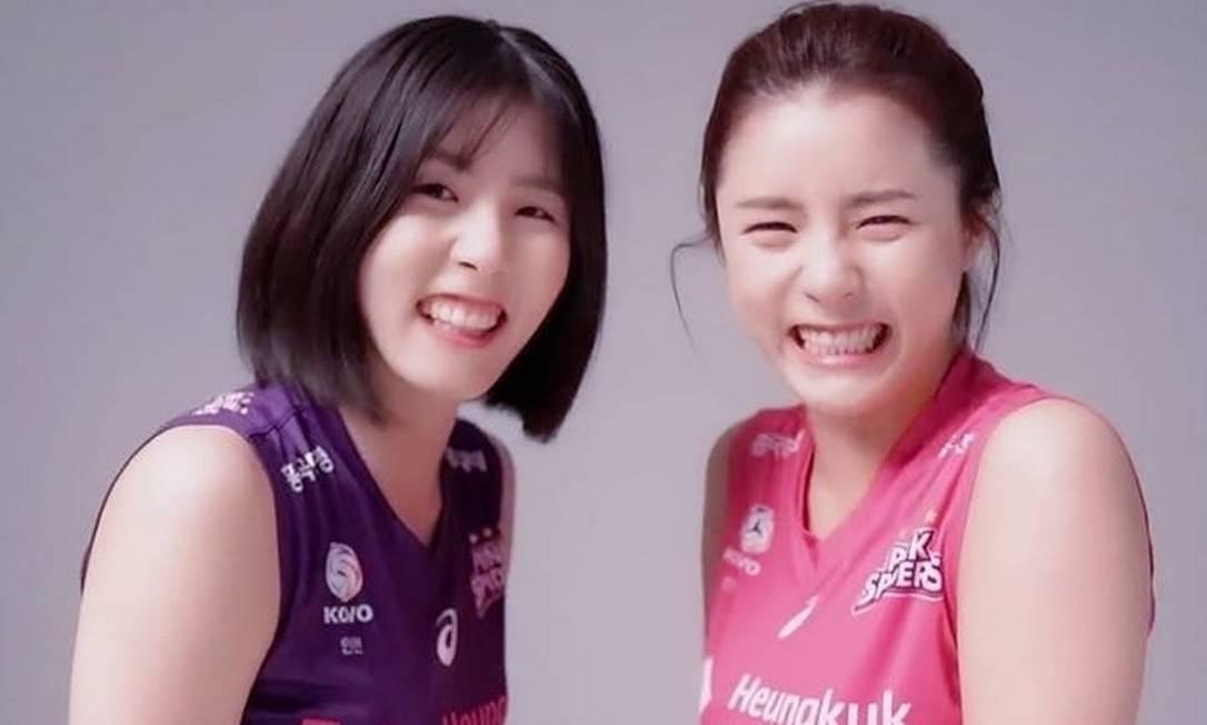 Gêmeas coreanas foram banidas da seleção de vôlei após denúncias Foto: Reprodução