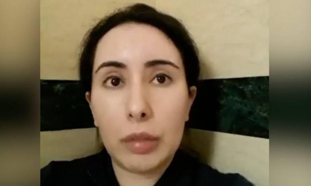 Princesa Latifa gravou vídeos em segredo de banheiro de casa onde estava detida Foto: PRINCESS LATIFA
