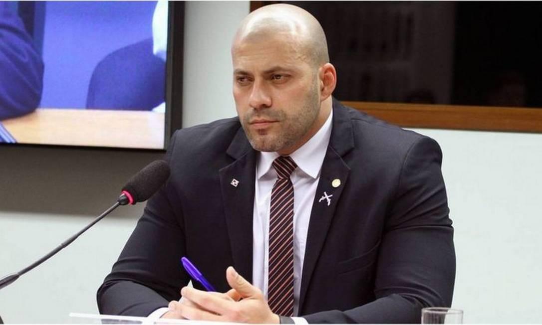 Parlamentar foi alvo de mandado de prisão em flagrante por ministro Alexandre de Moraes devido a vídeo em que ataca integrantes do Supremo Foto: VINICIUS LOURES/AGÊNCIA CÂMARA