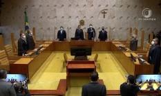 Plenário do Supremo Tribunal Federal (STF) Foto: Reprodução