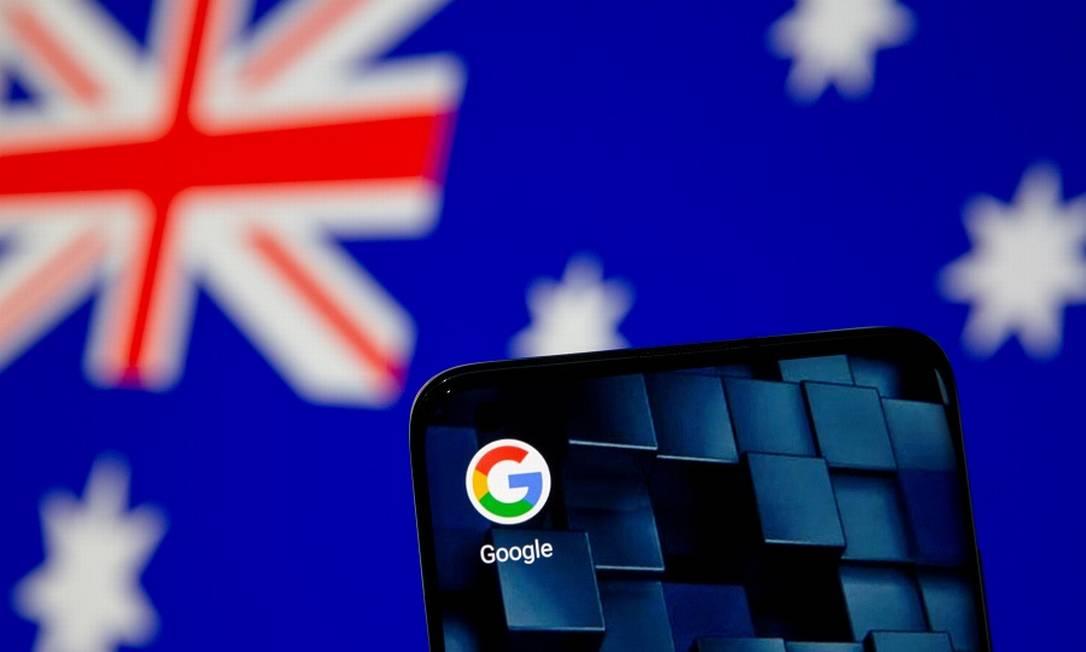 Google e bandeira australiana: acordo com empresas de mídia para evitar lei Foto: DADO RUVIC / REUTERS