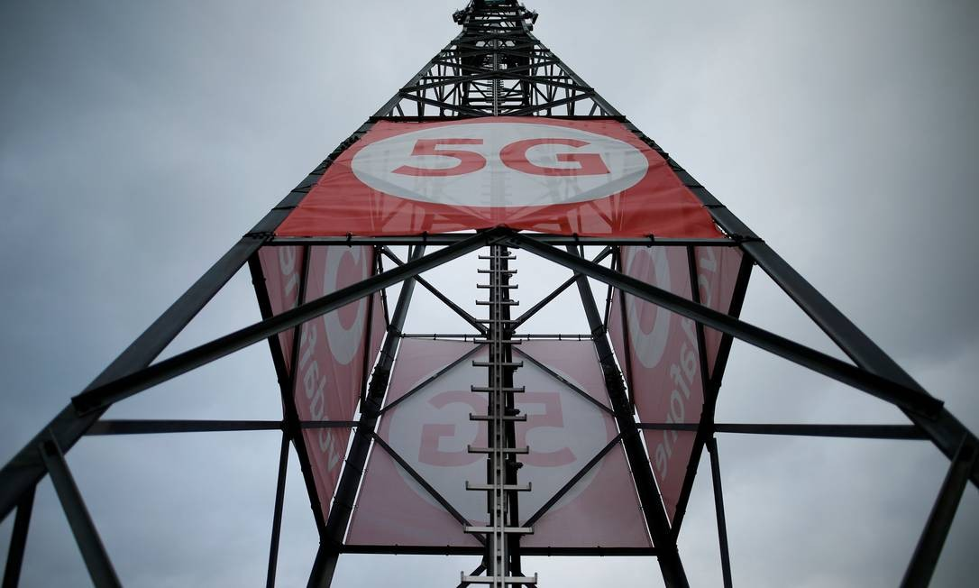 Antena de telecomunicações habilitada para o 5G Foto: Thilo Schmuelgen / Reuters