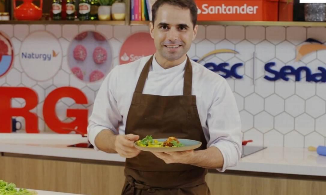 O chef Rodrigo Guimarães Foto: Reprodução