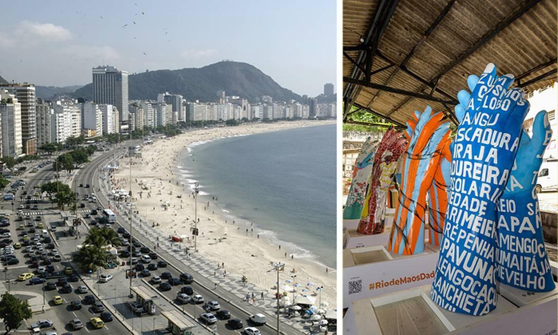 Obras de arte podem ser vistas a partir de hoje nos principais pontos da cidade, como Copacabana Foto: Getty Images e Erbs Jr