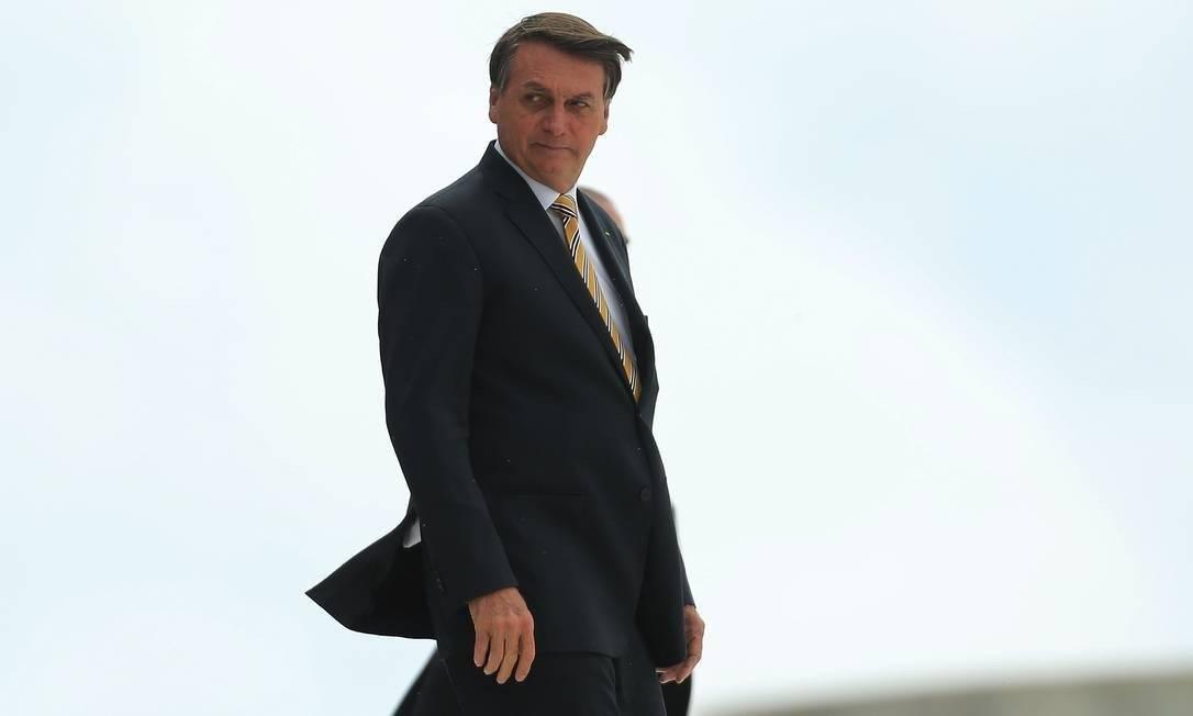 Presidente Jair Bolsonaro disse que encaminhou comentário para a PF Foto: Jorge William/Agência O Globo/19-11-2020