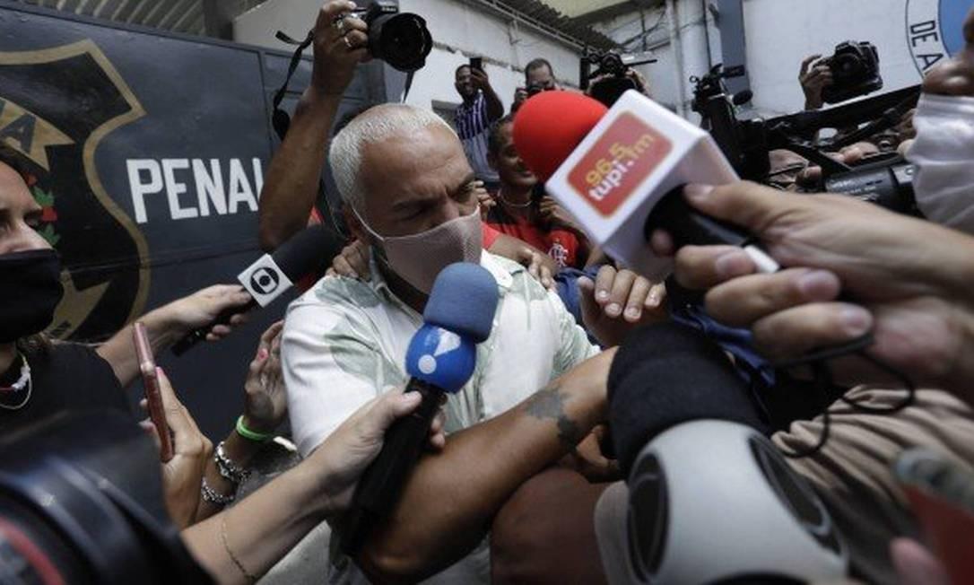 Belo deixou a cadeia nesta quinta-feira Foto: Gabriel de Paiva/ Agência O Globo