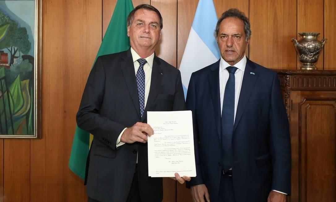 Scioli em encontro com o presidente Bolsonaro em 2020 Foto: Marcos Correa/PR