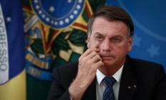 O presidente Jair Bolsonaro, durante entrevista coletiva no Palácio do Planalto Foto: Pablo Jacob/Agência O Globo/05-02-2021