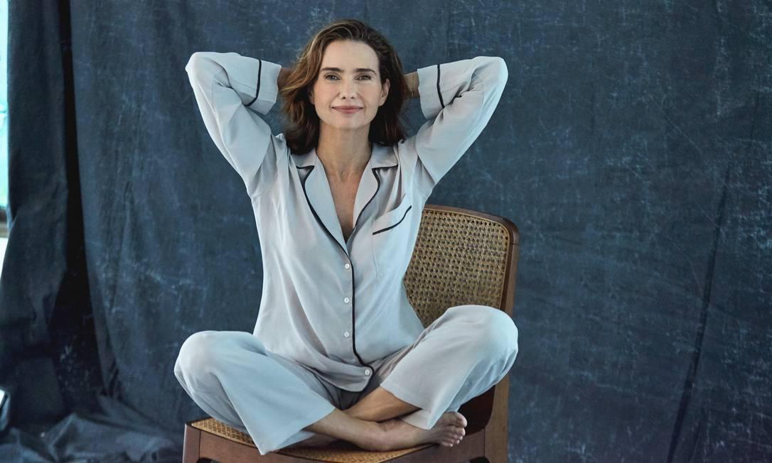 Coleção de pijamas de Adriana Mattar Foto: Nana Moraes / Nana Moraes