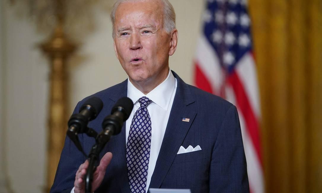 Joe Biden participa, à distância, da Conferência de Segurança de Munique Foto: MANDEL NGAN / AFP