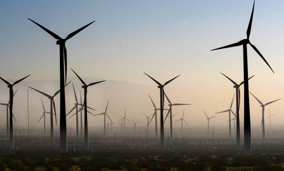 Moinhos de vento são responsáveis por 10% da energia elétrica do Texas Foto: Robert Alexander / Getty Images