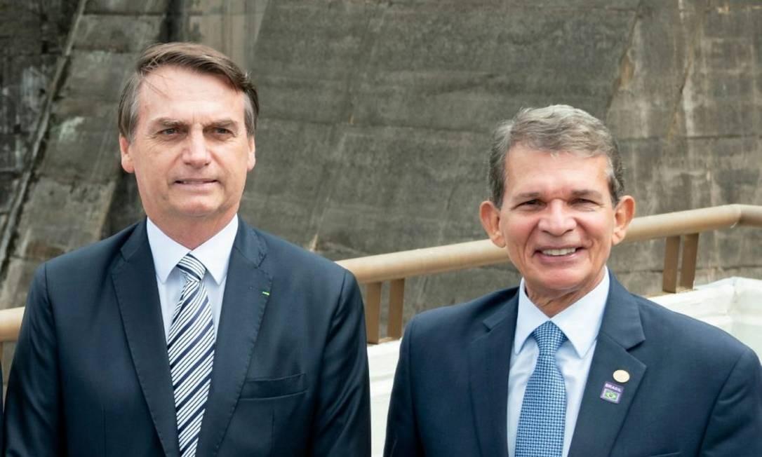 Jair Bolsonaro e Joaquim Silva e Luna Foto: Reprodução