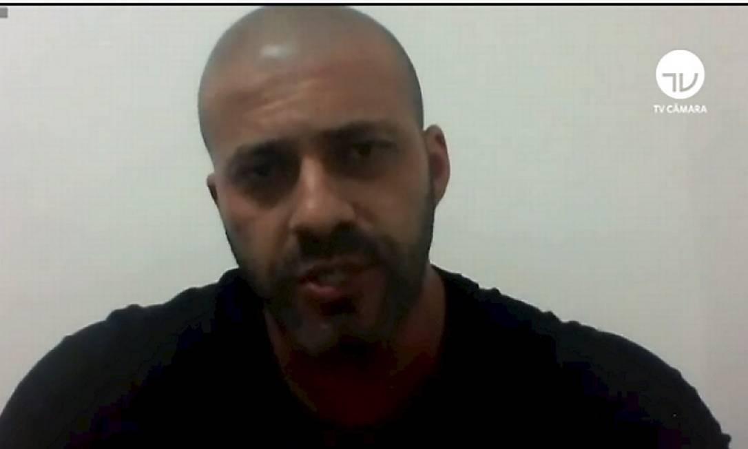 Prisão do deputado Daniel Silveira (PSL-RJ) foi mantida em votação da Câmara Foto: Reprodução