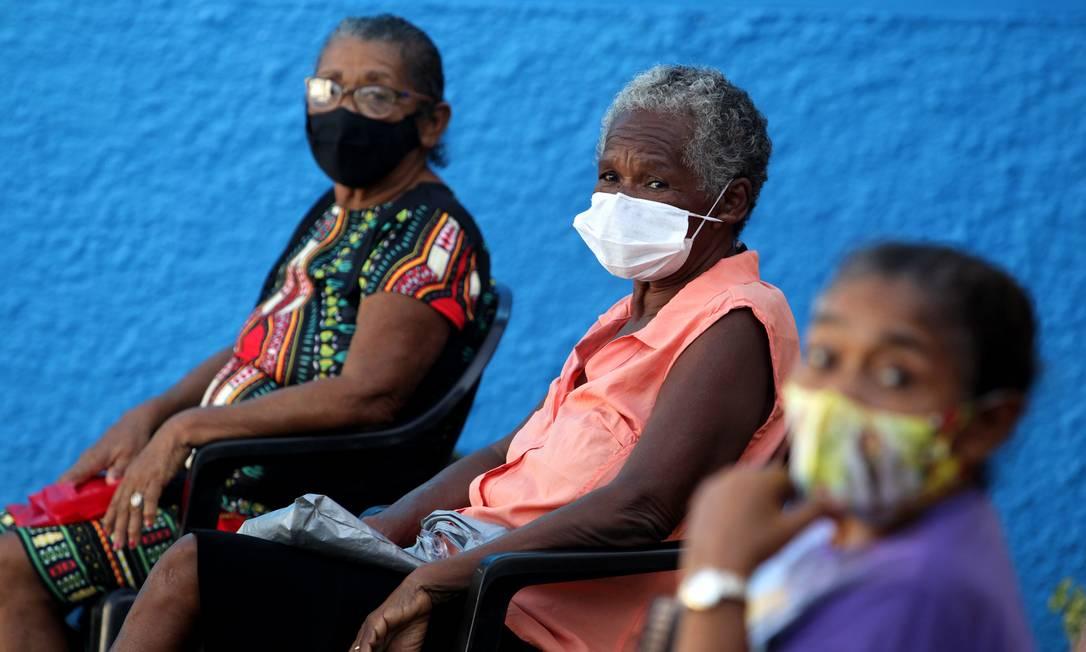 Vacinação contra a Covid-19 dos Quilombolas da comunidade Sucurijuquara, região isolada do Distrito de Mosqueiro, no Pará Foto: FramePhoto / Agência O Globo