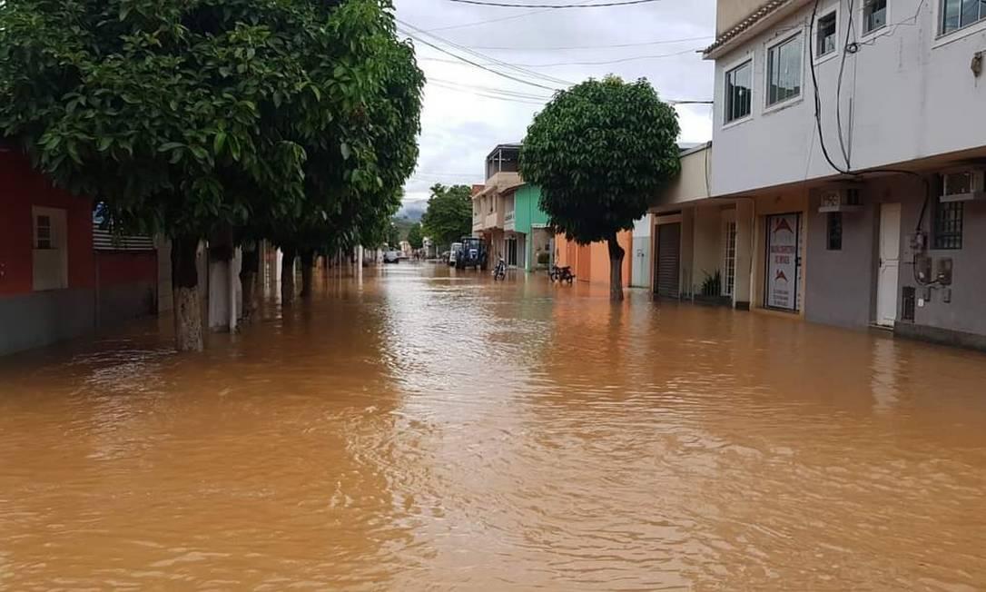 Enchentes em Porciúncula Foto: Divulgação/Prefeitura de Porciúncula
