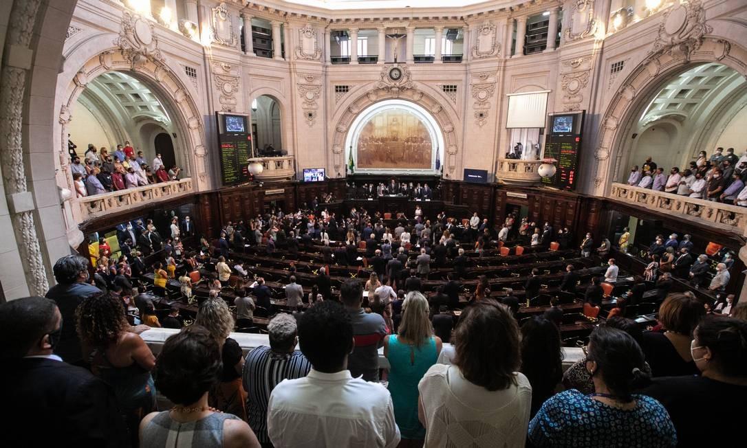 Alerj durante a abertura dos trabalhos da 3ª Sessão Legislativa da 12ª Legislatura Foto: Brenno Carvalho