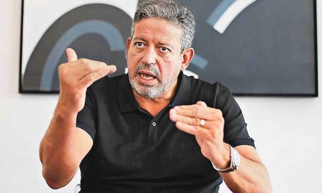 Entrevista exclusiva com o presidente da Câmara dos Deputados, Arthur Lira, na residência oficial do presidente da Câmara Foto: Sérgio Lima/O Globo