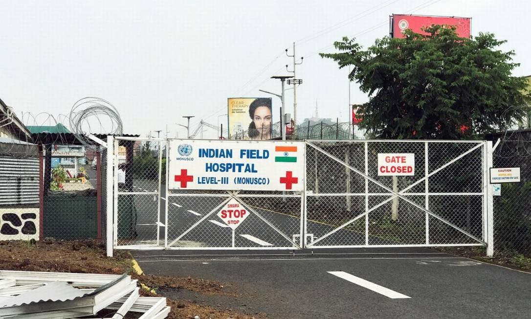 Visão geral da entrada trancada do Hospital de Campanha Indígena Nível III, onde morreu o embaixador italiano Luca Attanasio, em Goma, leste da República Democrática do Congo Foto: STRINGER / REUTERS