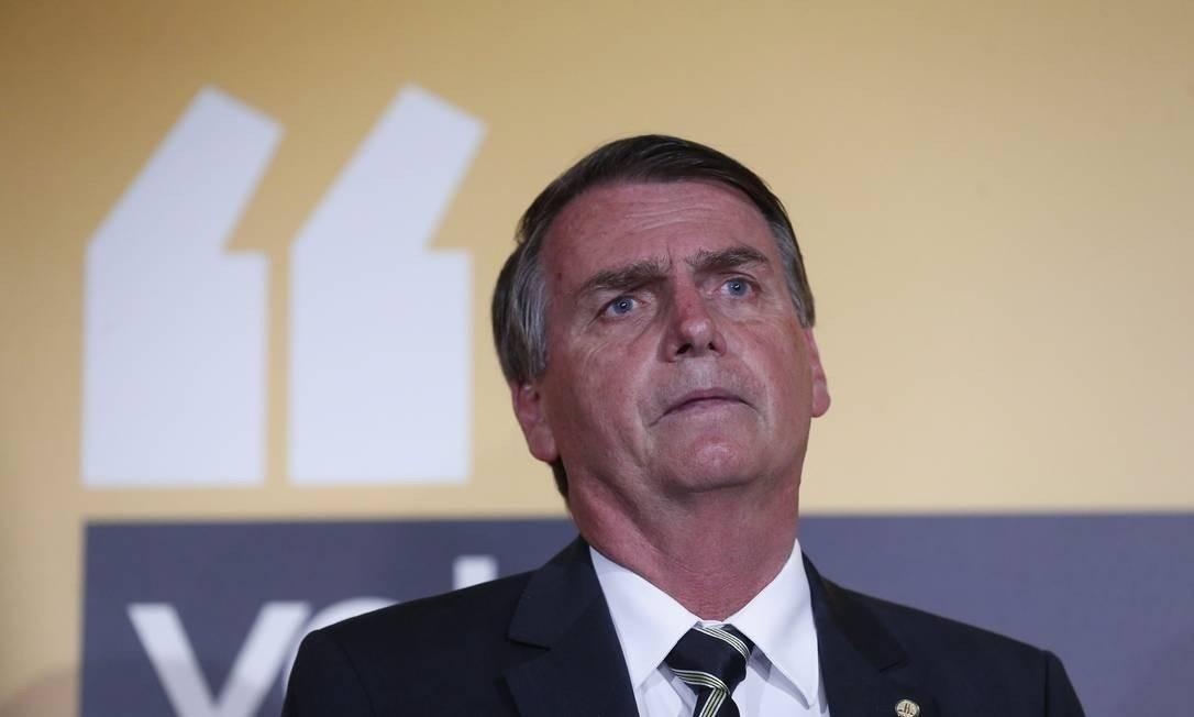 Jair Bolsonaro Foto: Marcos Alves / Agência O Globo
