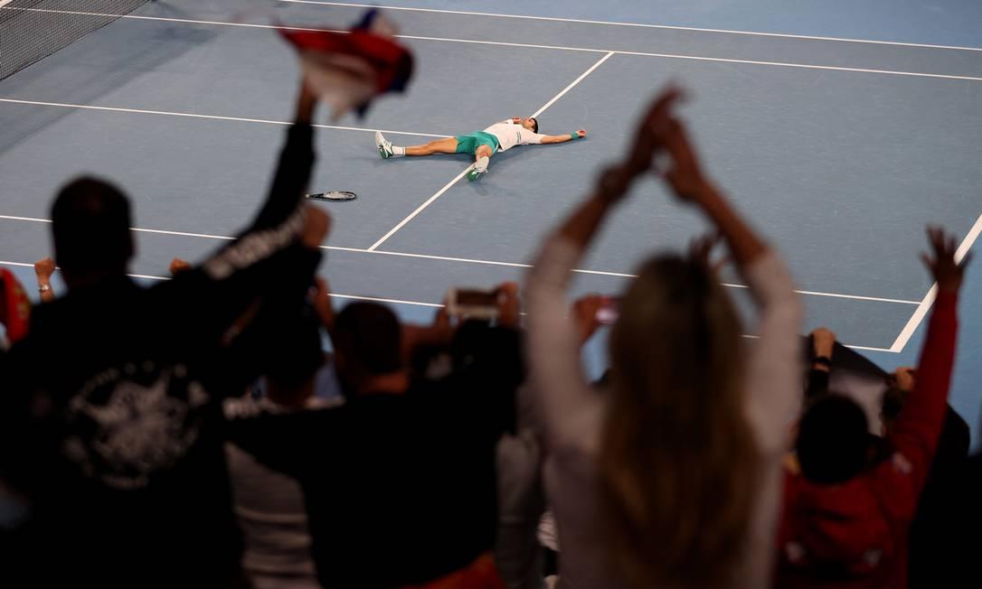 Na final do Australia Open, Djokovic levou o nono título do torneio Foto: LOREN ELLIOTT / REUTERS