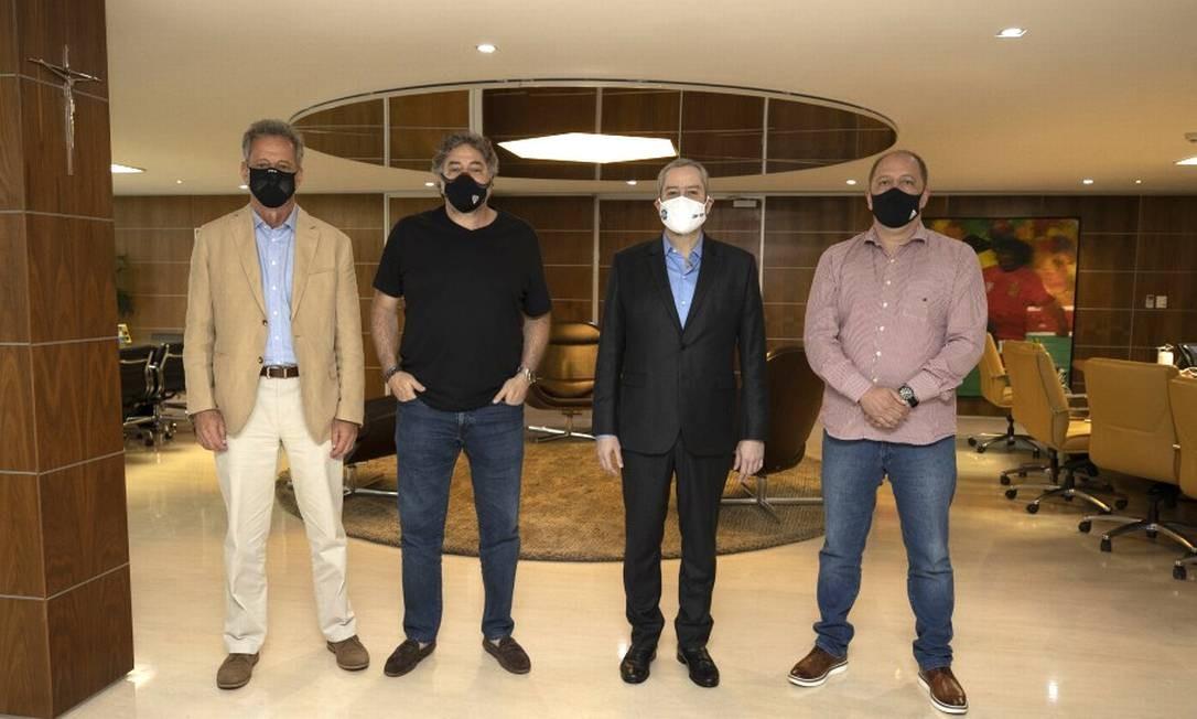 Presidentes de Flamengo, São Paulo, CBF e Internacional Foto: Lucas Figueiredo/CBF