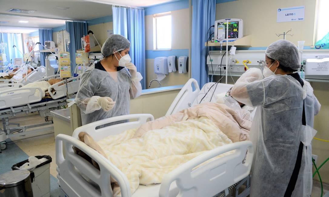 Na foto, Hospital São José referência em Covid-19 em Duque de Caxias, Rio de Janeiro Foto: FramePhoto / Agência O Globo