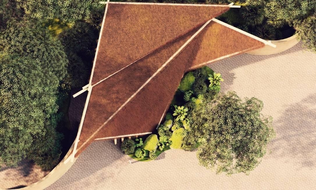 Projeção áerea do recinto dos répteis, como cobras e largartos. Uma das propostas do BioParque do Rio é oferecer uma experiência sensorial Foto: Divulgação/ CICLO Arquitetura