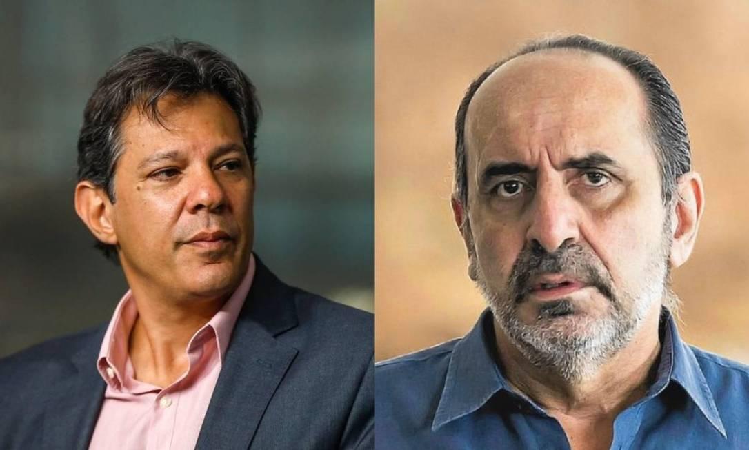 Fernando Haddad e Alexandre Kalil Foto: Agência O Globo