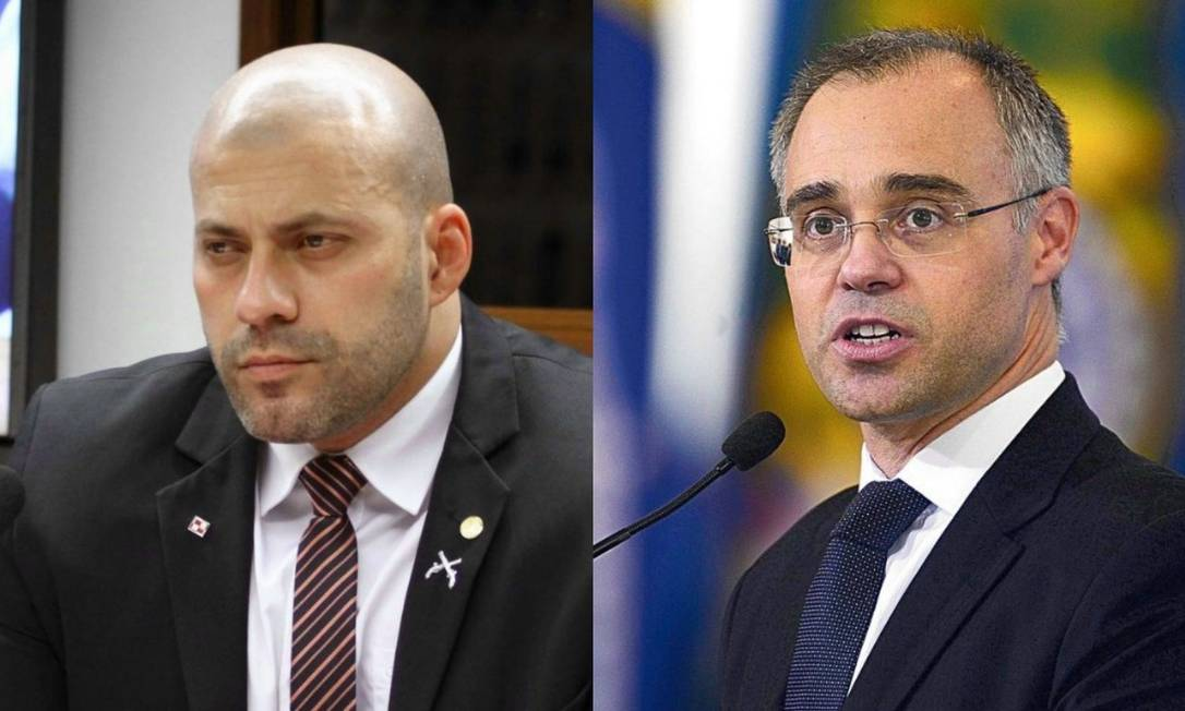 Daniel Silveira e André Mendonça Foto: Agência O Globo