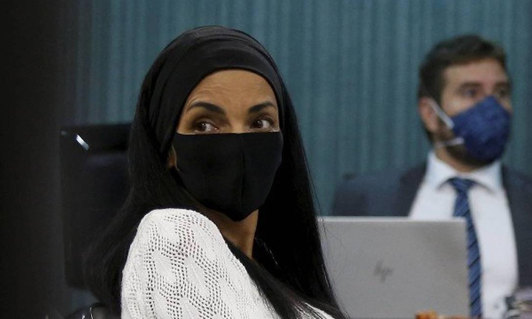 Flordelis durante uma das audiências do processo no qual é ré Foto: Fabiano Rocha / O Globo