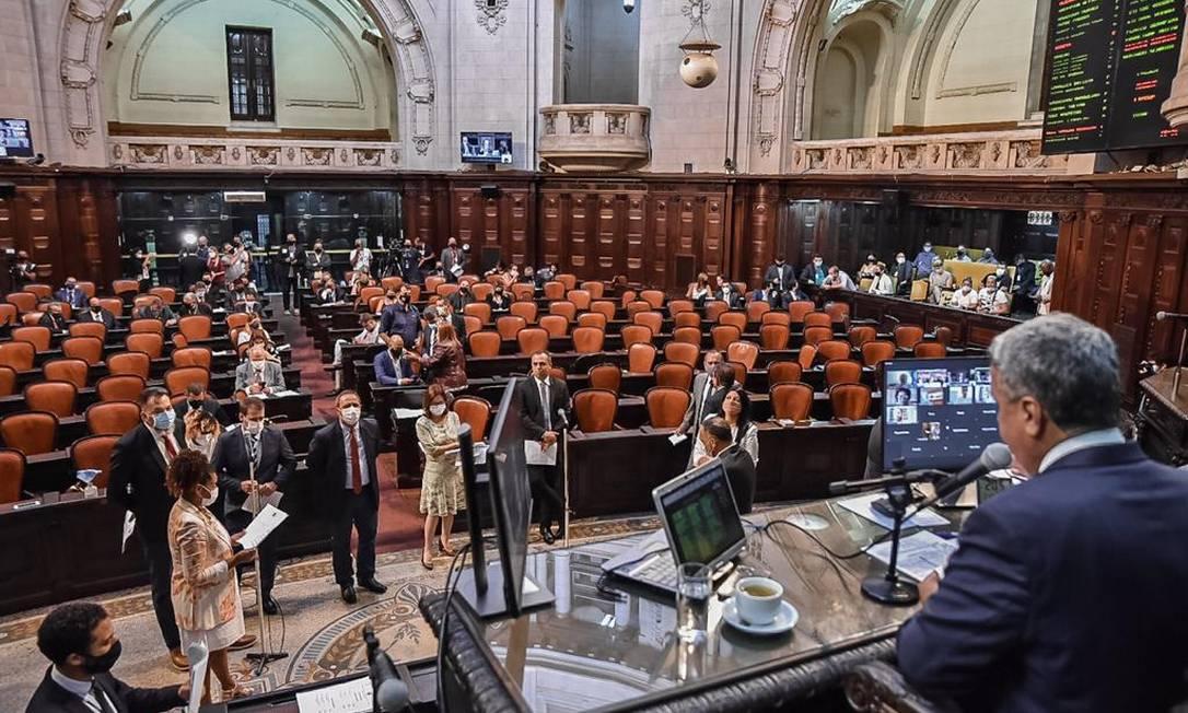 O plenário da Alerj nesta terça-feira Foto: Julia Passos/Divulgação