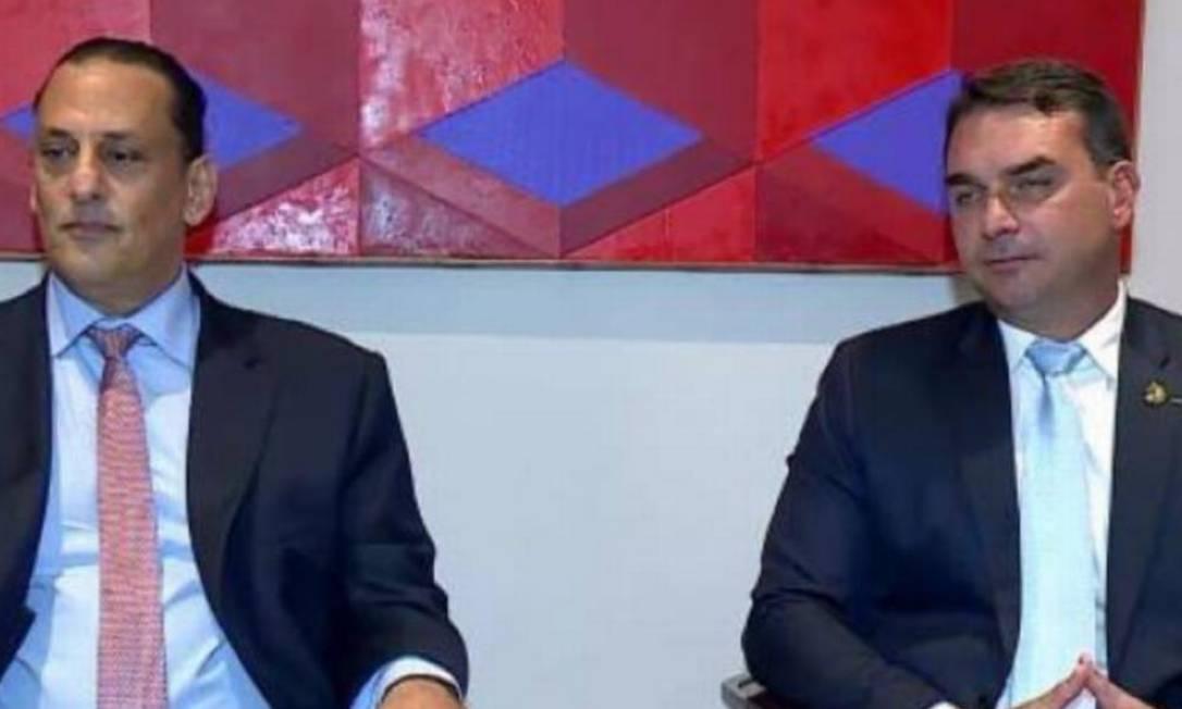 Frederick Wassef e Flávio Bolsonaro Foto: Divulgação