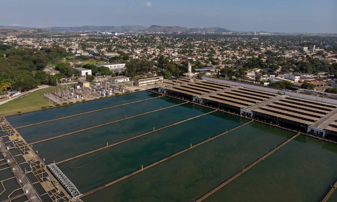 A Estação de Tratamento de Água (ETA) do Guandu Foto: Brenno Carvalho em 06-06-2020 / Agência O Globo
