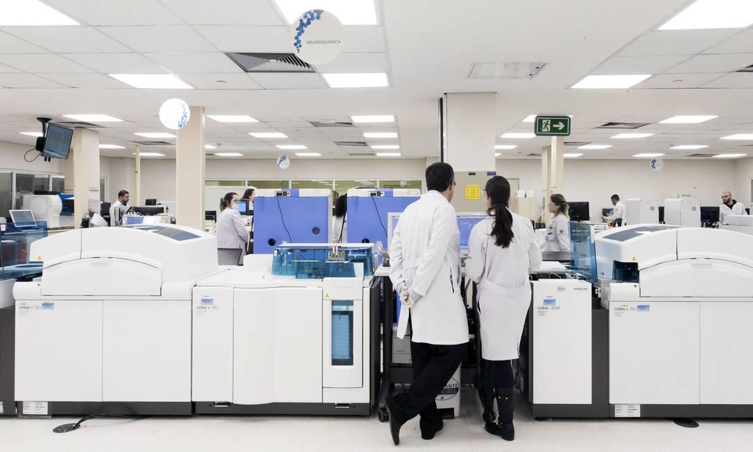 Laboratorio de Técnicas Especiais do Hospital Albert Einstein, onde primeiro caso de Covid-19 do Brasil foi descoberto. Foto: Edilson Dantas 27-02-2020 / Agência O Globo