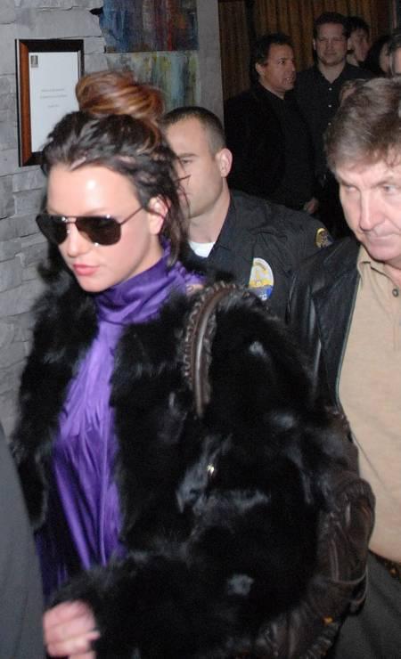 Britney Spears acompanhada pelo pai, em Beverly Hills, em 2008 Foto: Hector Vasquez / Getty Images