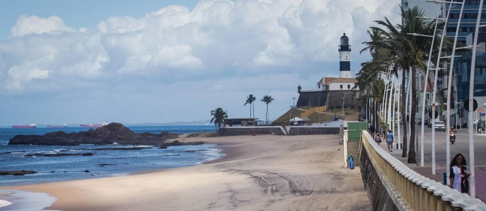 Prefeitura de Salvador determinou o fechamento das praias da cidade Foto: Fotoarena / Agência O Globo