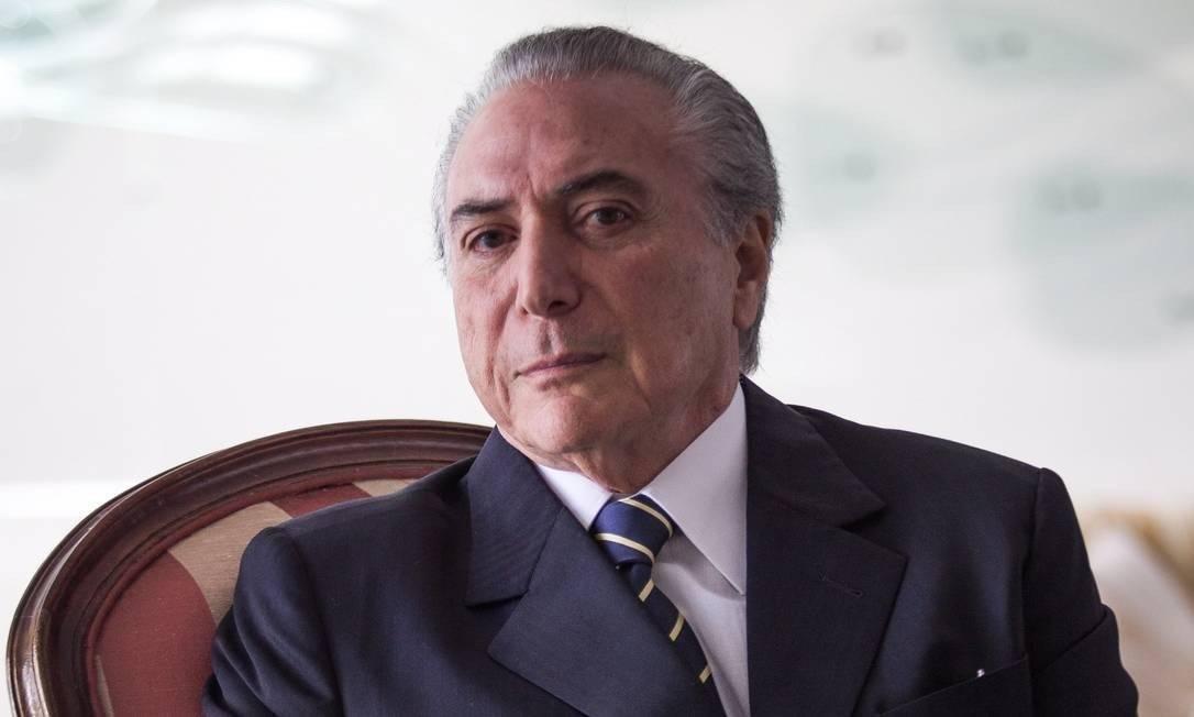 O ex-presidente Michel Temer Foto: André Coelho / Agência O Globo