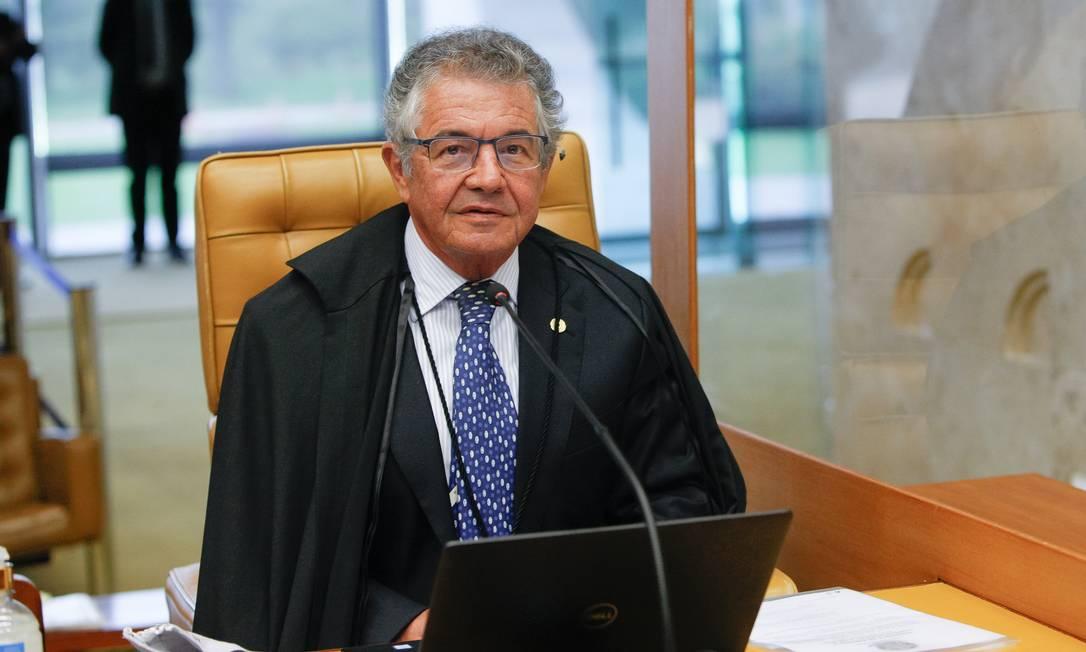 Ministro Marco Aurélio Mello na cadeira de decano do STF Foto: Fellipe Sampaio/SCO/STF