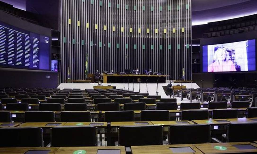 Sessão da Câmara dos Deputados na quinta-feira, 25: discussão sobre PEC acabou adiada Foto: Câmara
