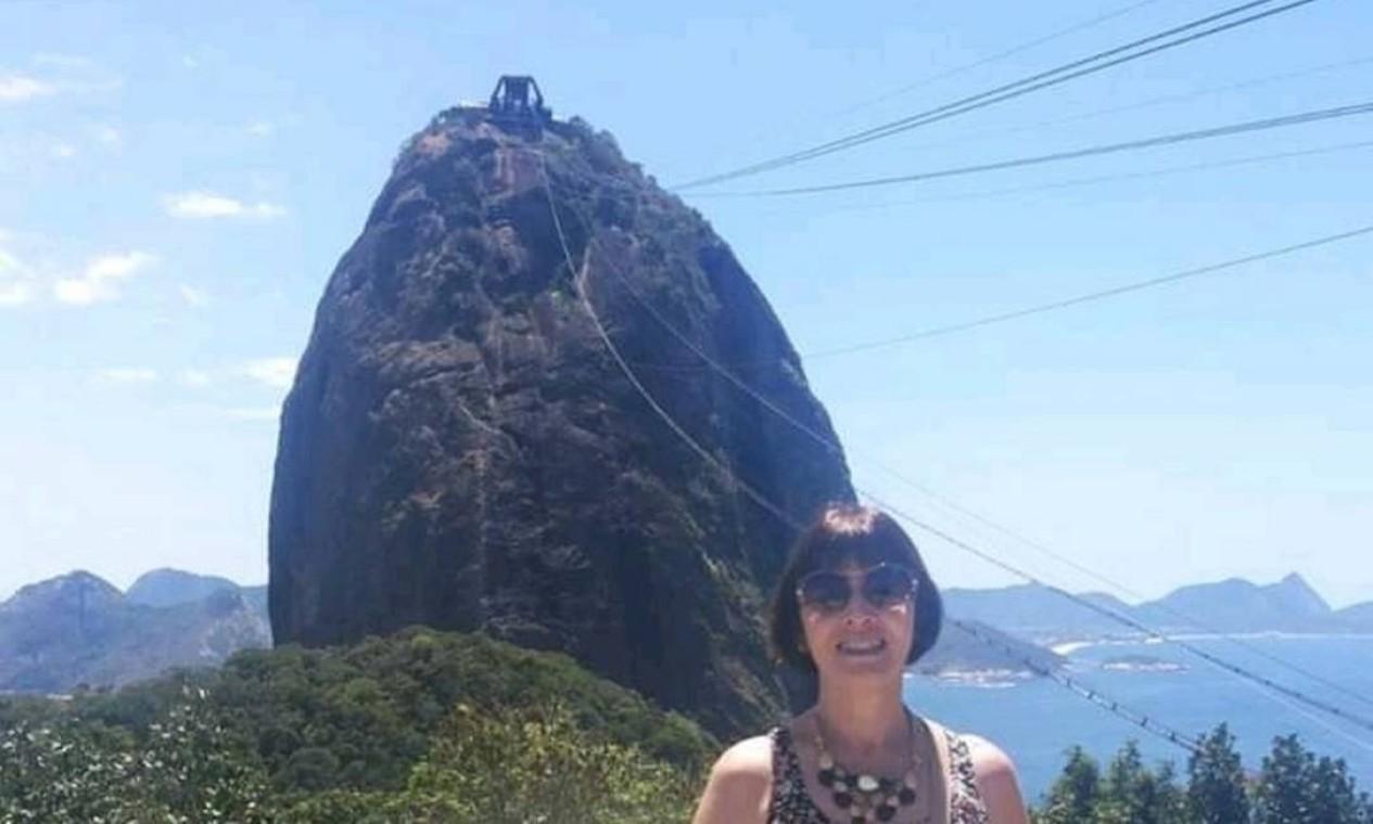 """Erica Nascimento ganhou uma viagem ao Rio de presente aos 60 anos: """"no Pão de Açúcar fiquei deslumbrada. É uma linda lembrança, que guardarei para sempre"""" Foto: Erica Nascimento / Cortesia"""