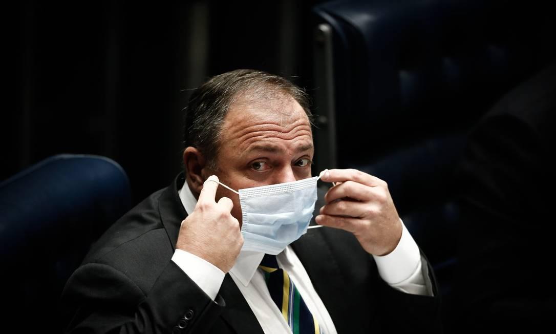 Ex-ministro da Saúde Eduardo Pazuello Foto: Pablo Jacob / Agência O Globo
