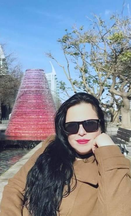Sheila Dias, de 40 anos, no Parque das Nações em Lisboa Foto: Arquivo pessoal