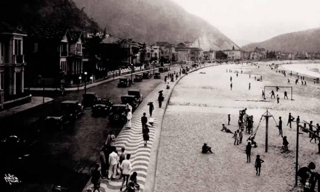 Praia de Copacabana em 1915. Foto: Augusto Malta. / Arquivo Images2You